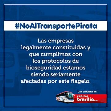 #NoAlTransportePirata