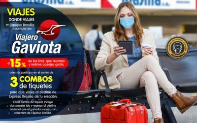 En MARZO Viajes a donde viajes en Expreso Brasilia