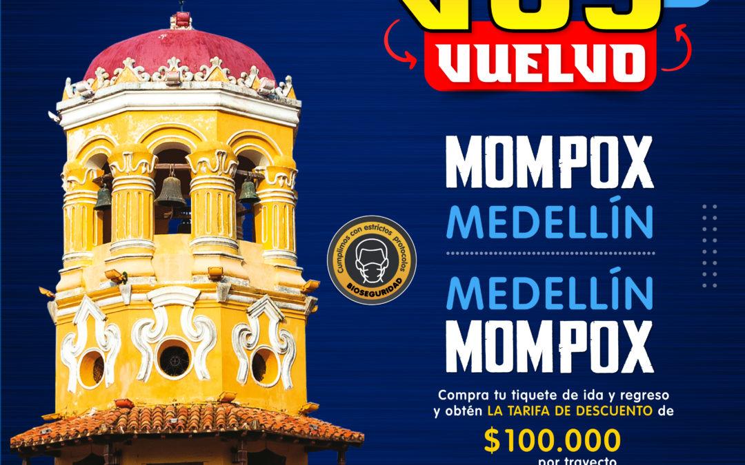 Voy y vuelvo Mompox Medellín y Medellín Mompox