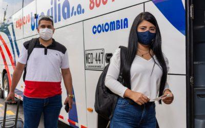 Se puede viajar en bus con bioseguridad